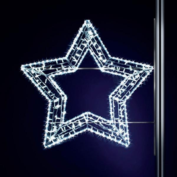 Leuchtstern Gabbi 100, H100, B120 cm, kaltweiss, Strassenlichter, Pfostenmontage