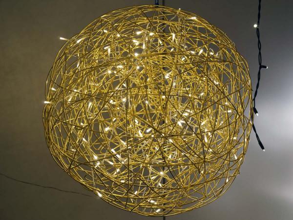 Weihnachtliche Leuchtkugel Galax 50x50cm, gold, 5,4W, 150 LED, outdoor