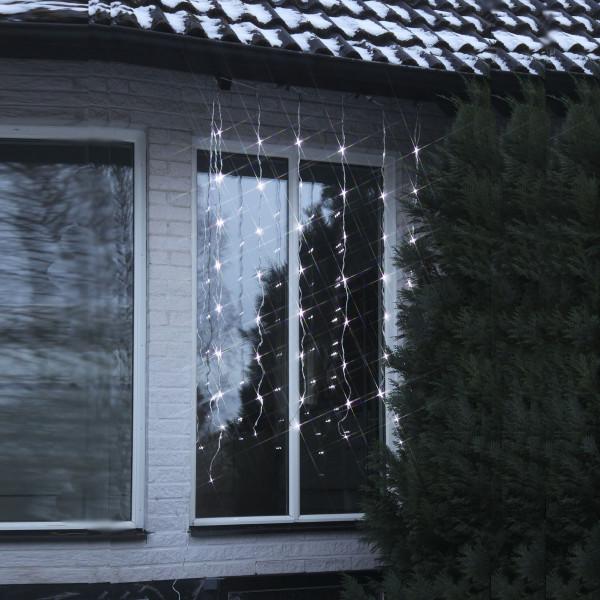Lichtvorhang fallender Schnee, LED, 256-teilig kaltweiss, 180 x 160 cm, 6 Laufge