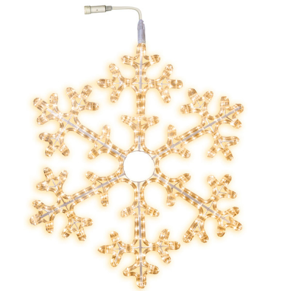 Schneeflocke LED Ø 75 cm mit Startkabel, 360 LED warmweiss, ausbaubar