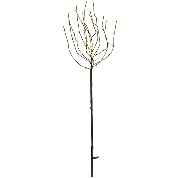 Tobby Baum, braun, Höhe 110 cm, 70 LED warmweiss, outdoor