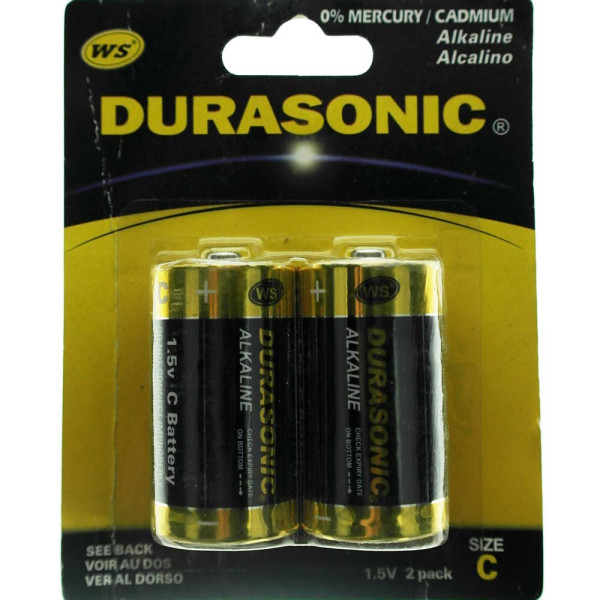 Batterie Set mit 2 x Typ C, LR14 Durasonic 25x45mm