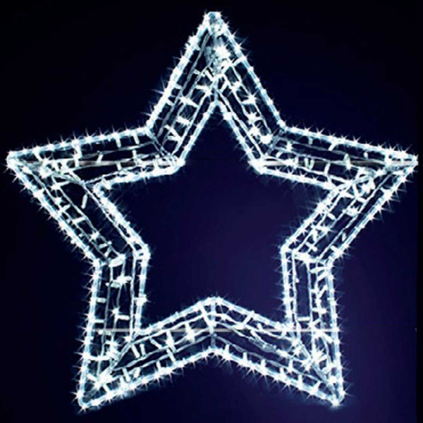Leuchtstern Gabbi 100, H100, B105cm, kaltweiss, Fassadenmontage