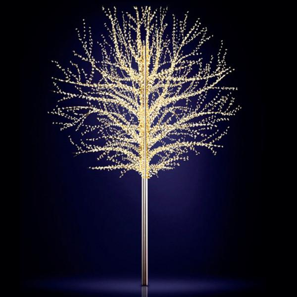 Leuchtbaum Baltic 300, H300, B330, L330cm, warmweiss, 6 Äste, 3D, leicht blinkend, ohne Stange