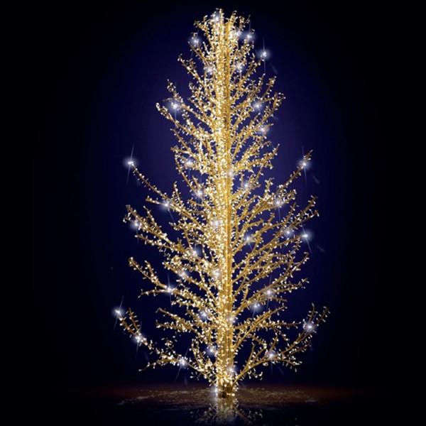 Weihnachtsbaum Sasha 500, H500, B275, L257cm, warmweiss, 6 Äste, 3D, ohne Stange