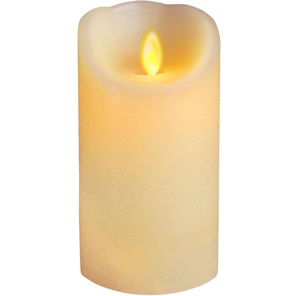 Twinkle-Star Wachskerze, LED Flackerlicht, Ø 8, H15 cm, elfenbein