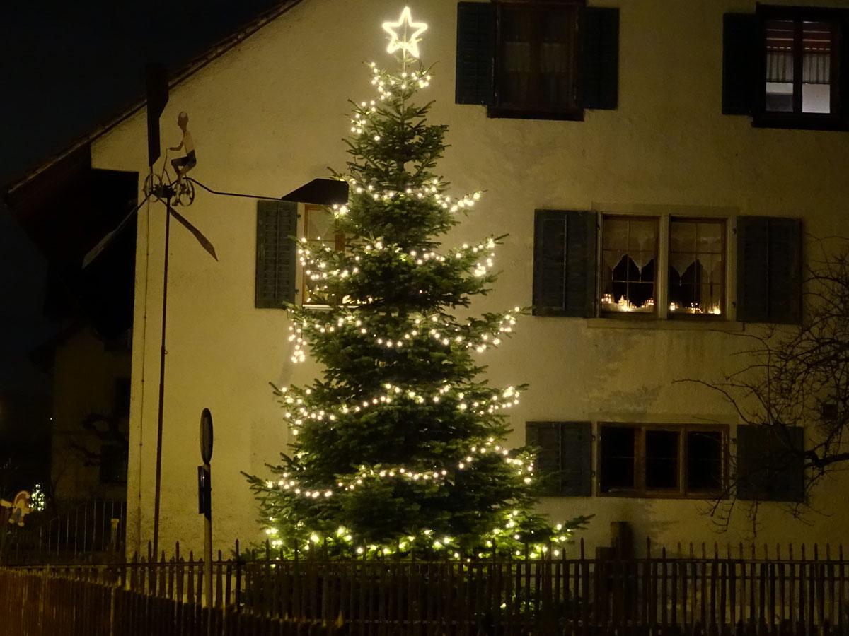 Lichterketten schätzen für beleuchteten Baum