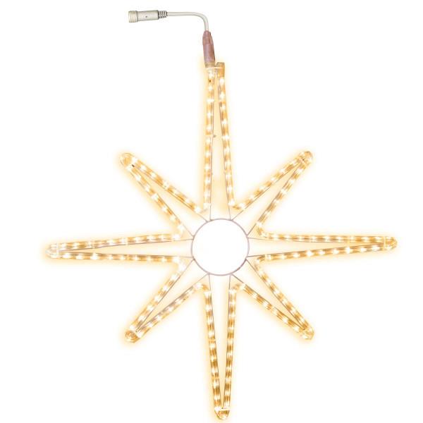 Stern LED Ø 75 cm, mit Startkabel, 144 LED warmweiss, ausbaubar