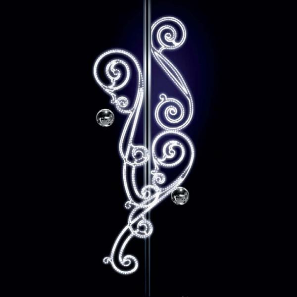 Weihnachtsbeleuchtung Anastasia, H300, B120, L120cm, kaltweiss, 3D, Pfostenmontage