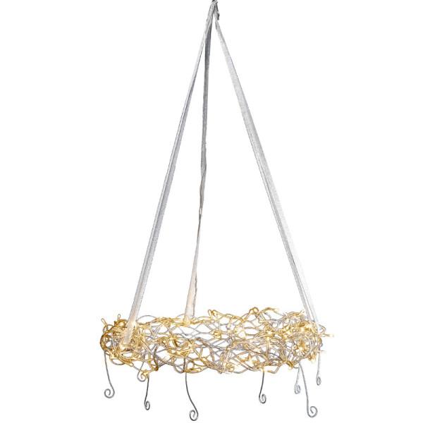 Kranz Curly Combi. Ø 45 cm, 120 LED warmweiss, Ausstellungsmodell