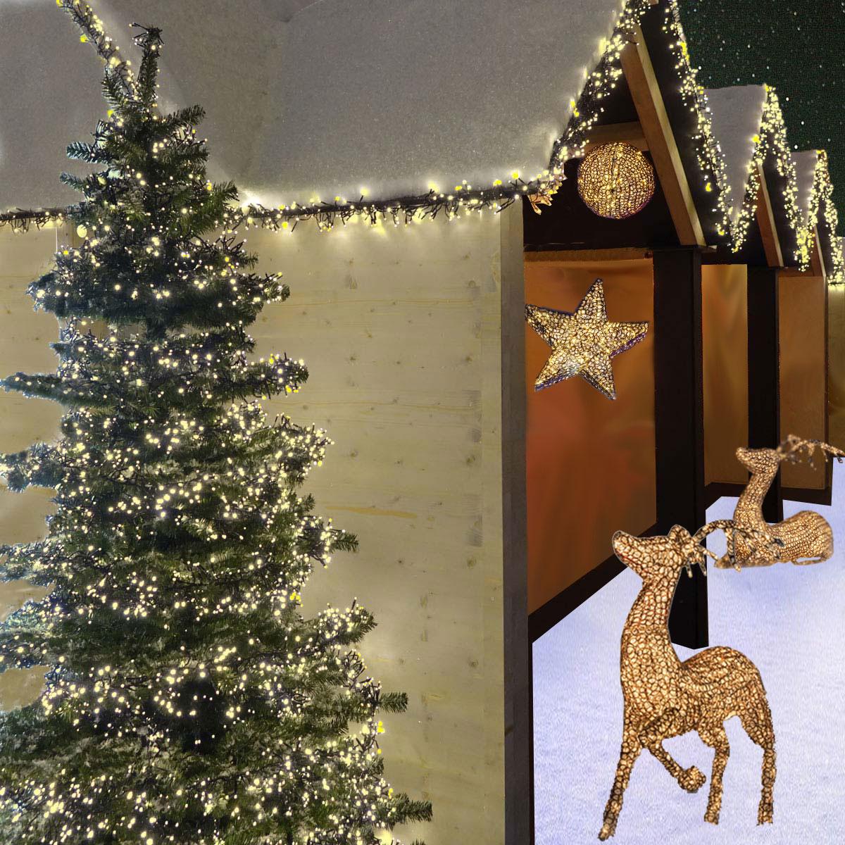 LED-Cluster-Lichterketten für Haus und Baum